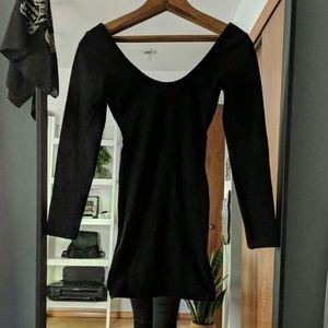American Apparel Black Scoop Neck Dress